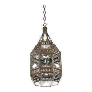 Moroccan Moorish Clear Glass Lantern For Sale