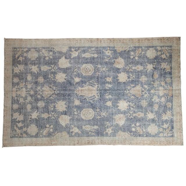 "Vintage Distressed Fragment Sparta Carpet - 5'7"" X 9'1"" For Sale - Image 11 of 11"