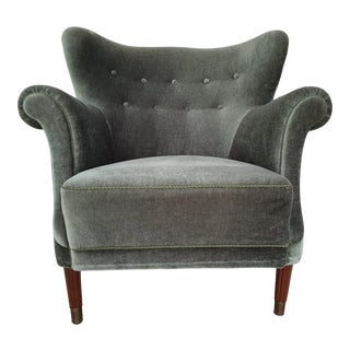 1950s Danish Relax and Read Armchair For Sale