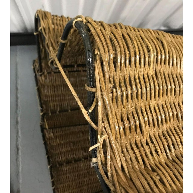 """Vintage Wicker Trompe l'Oeil """"Draped"""" Table For Sale - Image 4 of 12"""