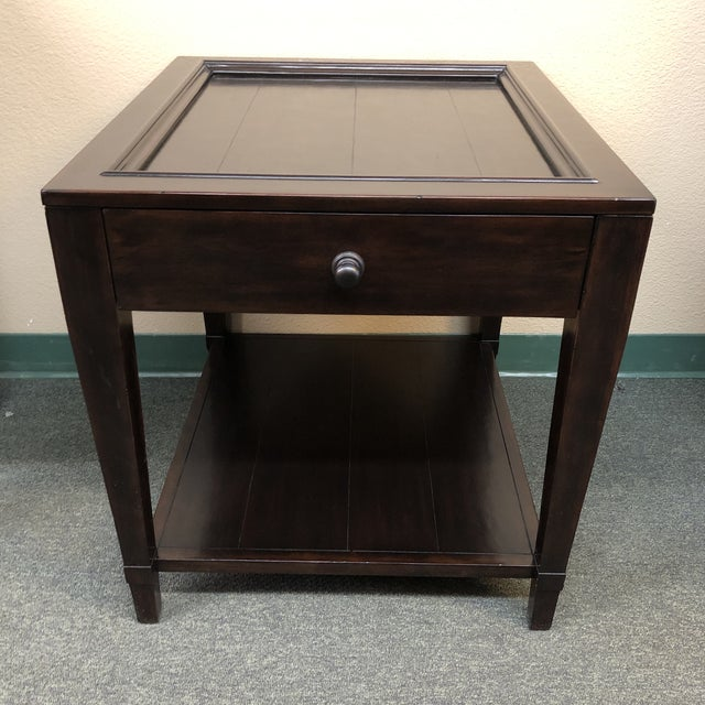 Design Plus Gallery presents a vintage tray end table by Bernhardt Furniture Company. Constructed of solid mahogany and...