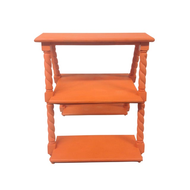 Orange Painted Three Tiered Stand - Image 3 of 5
