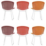 Image of Harry Bertoia Wire Chairs for Knoll International, Early Production Set of Six For Sale