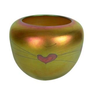 Lundberg Studios Art Glass Vase For Sale