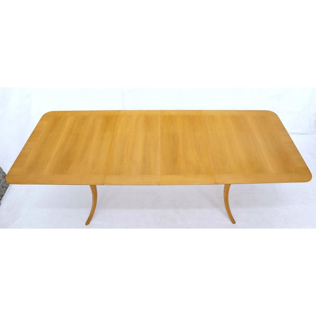 Gibbings for Widdicomb Klismos Style Dining Table with Two Extension Boards For Sale - Image 6 of 13