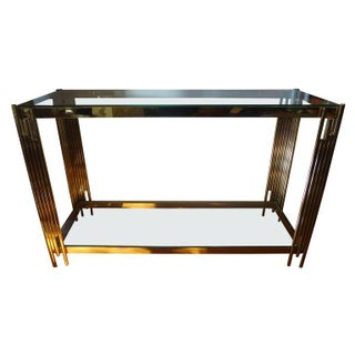 1970s Italian Brass Two Tiered Console Table Preview