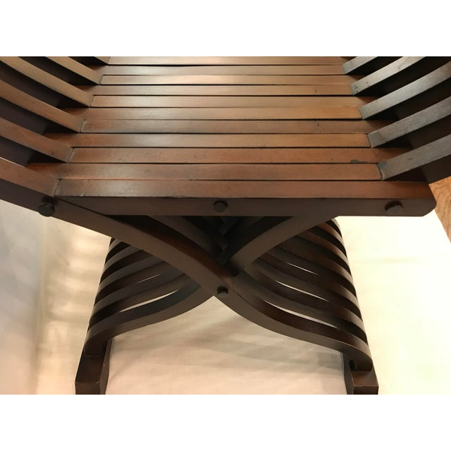 20th Century Italian Savonarola X-Form Carved Wooden Chair For Sale - Image 11 of 13