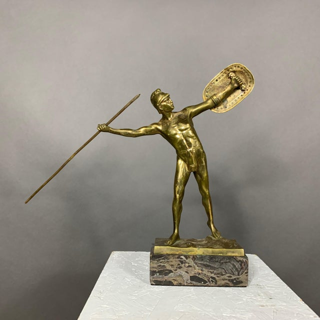 F. Thierman Bronze Gladiator Sculpture C.1900, Germany For Sale - Image 10 of 10