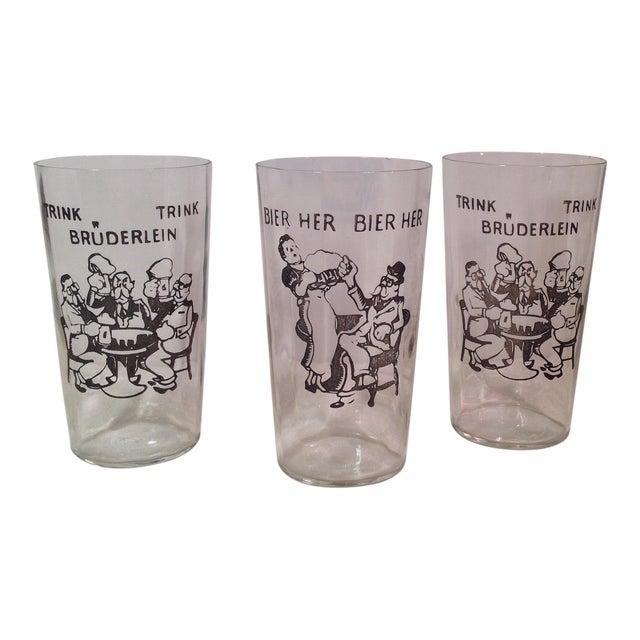 Vintage German Beer Glasses - Set of 3 - Image 1 of 5