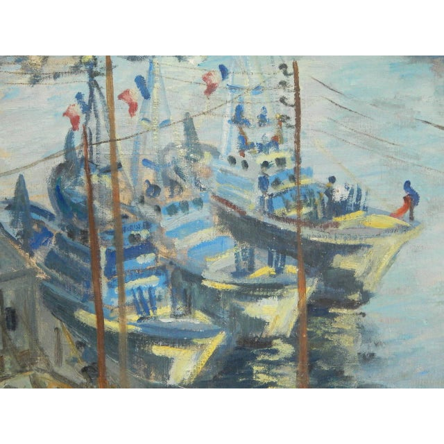 Mid-Century Modern Roudens Maroselli Oil on Canvas For Sale - Image 3 of 8