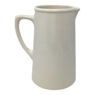 Kirkland Etruria Embassy Ware Banded Ironstone Pitcher For Sale