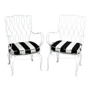 1940s Jean-Charles Moreux Style Iron Armchairs - a Pair For Sale