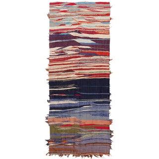 Vintage Moroccan Rag Rug - 3′6″ × 10′8″ For Sale