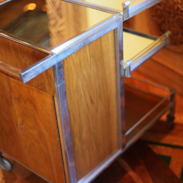 1930s Dry Bar Service Cart by Jacques Adnet For Sale - Image 5 of 10