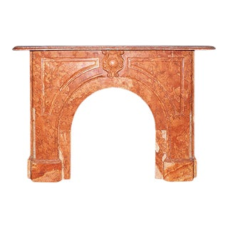 19th Century Italianate Style Red Marble Fireplace Mantel For Sale