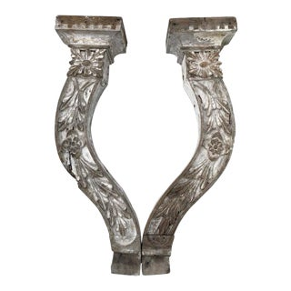Large Shabby Chic Farm-House Corbels or Wall Sconces For Sale