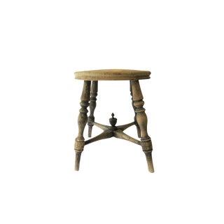 Antique Wooden Round Seat Stool