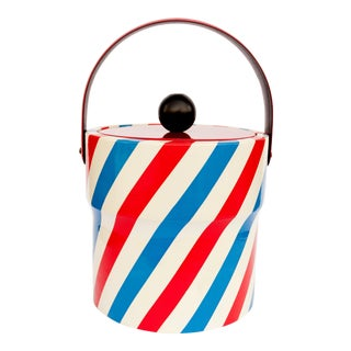 Vintage Red, White and Blue Ice Bucket