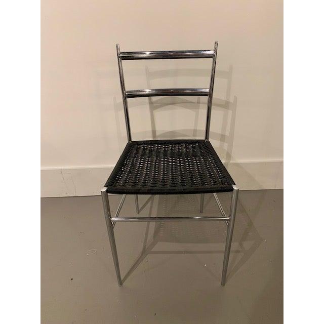 Gio Ponti Gio Ponti Chrome Frame Leggera Chair For Sale - Image 4 of 4