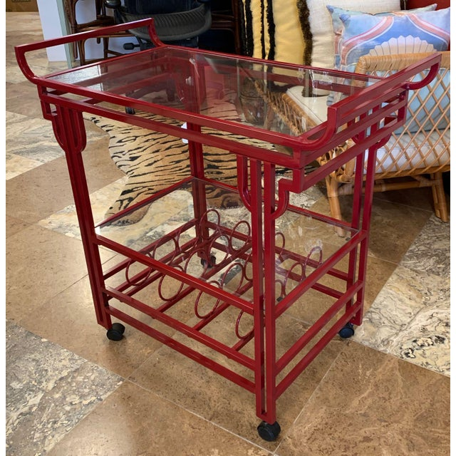Late 20th Century Art Deco Bar Cart For Sale - Image 9 of 9