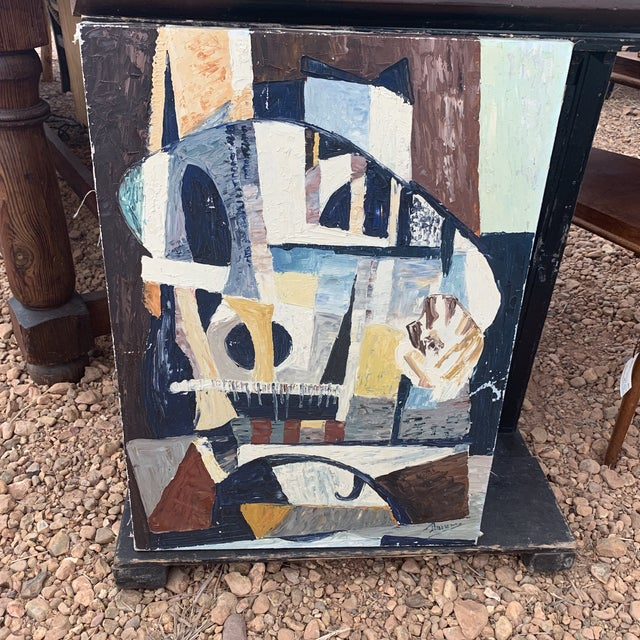 """1940s French Abstract Painting Titled """"Notre Dame Paris"""" For Sale In Seattle - Image 6 of 6"""