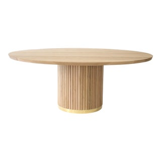 Audubon Pedestal Oak Dining Table For Sale