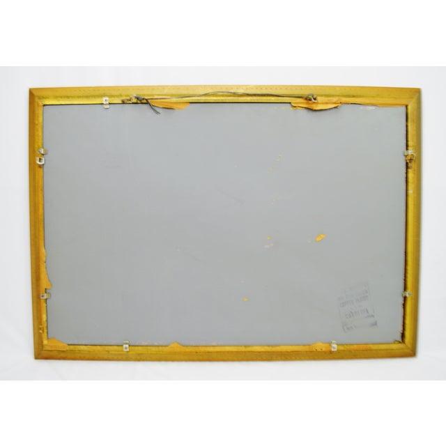 Vintage 1964 Gold Gilt Gesso Framed Wall Mirror - Image 9 of 9