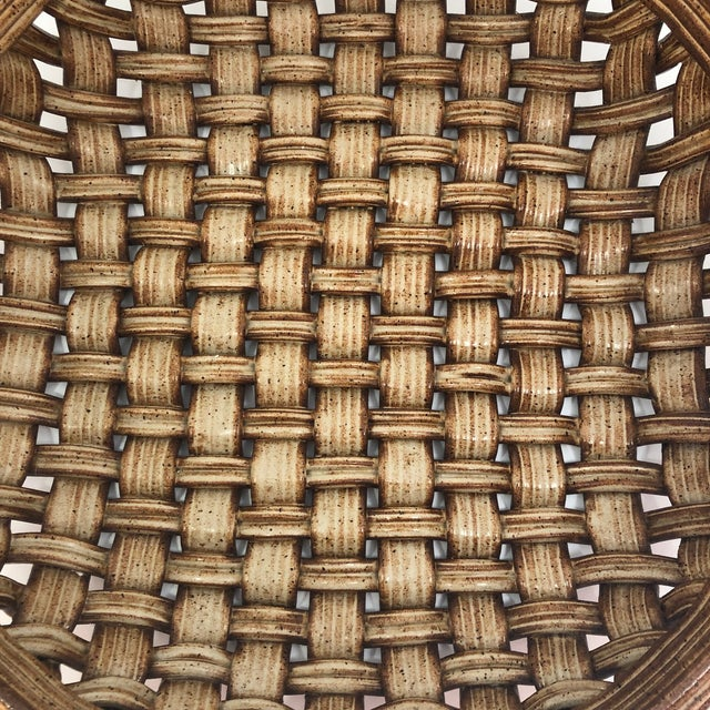 Various Artists Phil Sellers River Hill Pottery Basket Weave Bowl or Platter For Sale - Image 4 of 13