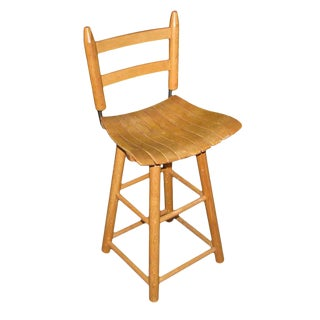 Swivel Bentwood Kitchen Stool For Sale
