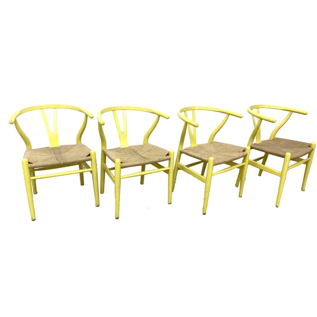 Wood Hans Wegner Wishbone Chairs - Set of 4 For Sale - Image 7 of 7