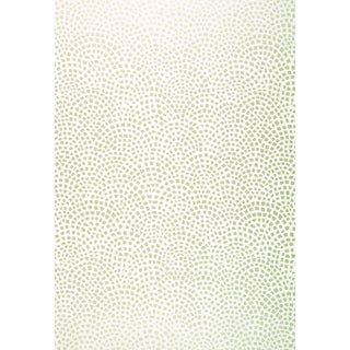 Schumacher Mosaic Wallpaper in Silver For Sale