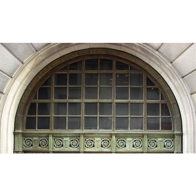 Ornate Bronze Palladian Window Transom For Sale - Image 10 of 10