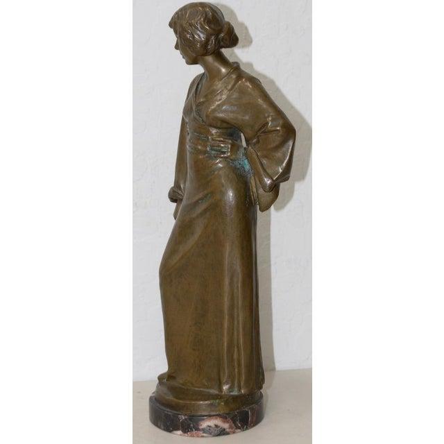 Arnold Katsch (German 1861-1928) Art Nouveau Bronze C.1912 For Sale In San Francisco - Image 6 of 9