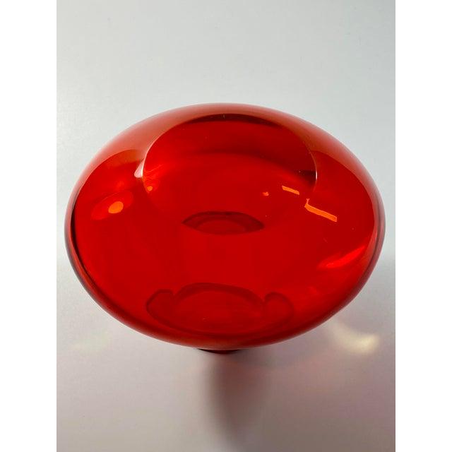 "1963 Antonio Da Ros Cenedese ""Coppa Con Labbro"" Sommerso Red Uranium Glass Vase For Sale In Providence - Image 6 of 8"