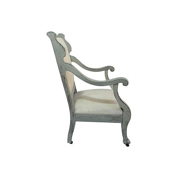 1920s Scrolled Arm Chair - Image 2 of 3