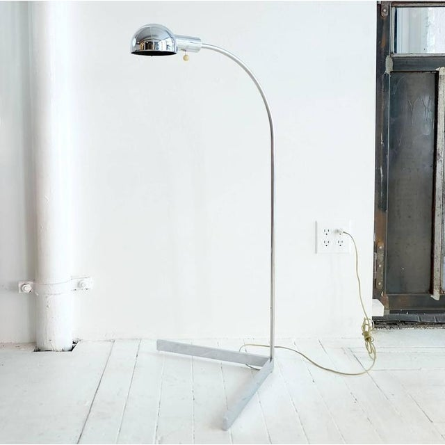Cedric Hartman floor lamp chromed metal.