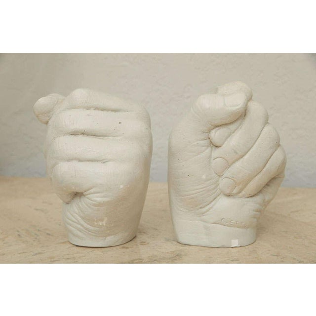Plaster Richard Etts Plaster Candle Holders - a Pair For Sale - Image 7 of 10