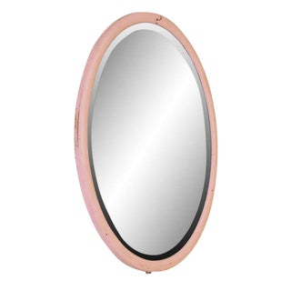 Light Pink Vintage Oval Mirror