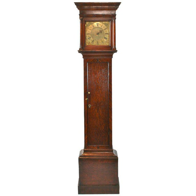 Brown English Tall Case Clock For Sale - Image 8 of 8
