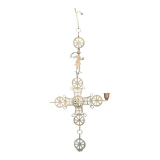 Brass Cross Wall Hanging For Sale