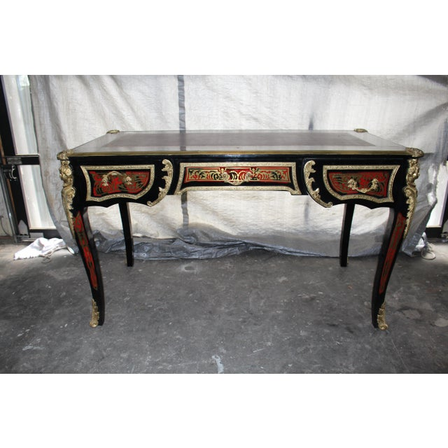 19th Century French Boulle Writing Desk For Sale - Image 9 of 9