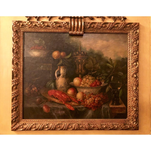Antique French Still Life Painting in Panel, Circa 1870-1890.