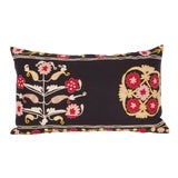 Image of Early 20th C. Vintage Hand Embroidered Uzbek Samarkand Pillow ~ Down Feather Insert Included. For Sale