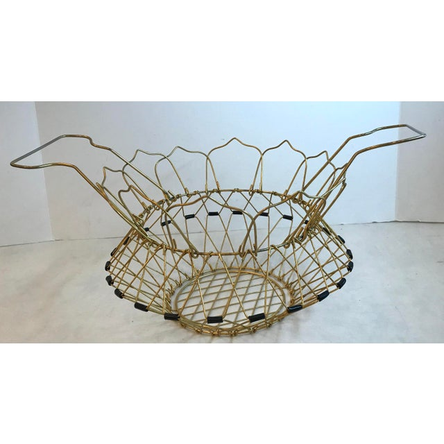 Mid Century Folding Wire Basket For Sale In Dallas - Image 6 of 10