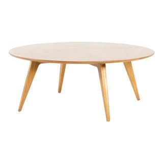 John Van Koert for Drexel Mid Century Profile Round Coffee Table For Sale