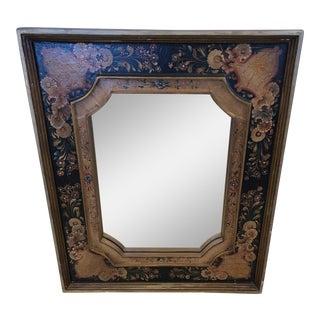 Venetian Hand Painted Rectangular Mirror For Sale