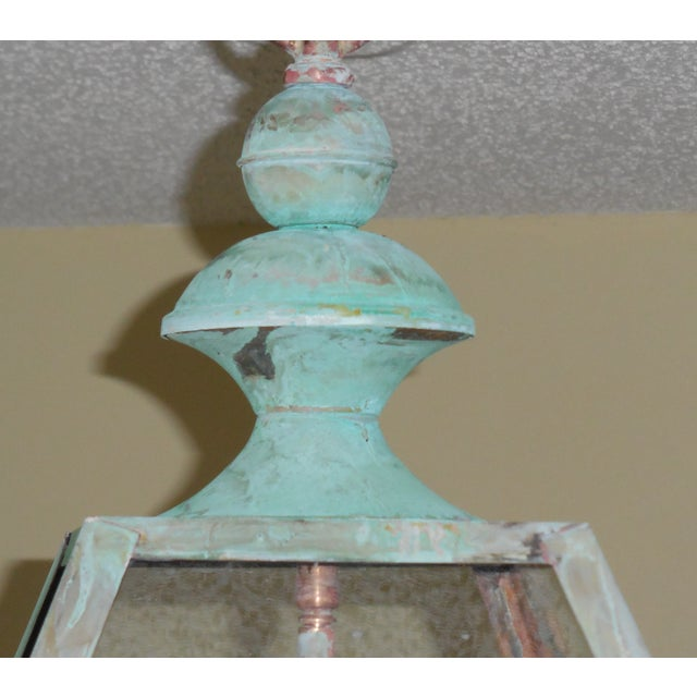 Four Sides Architectural Hanging Copper Lantern - Image 9 of 11