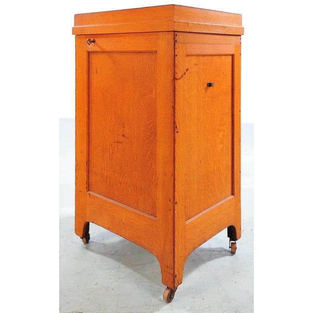 1930s Vintage Oak File Cabinet -2 Drawer - Image 8 of 9