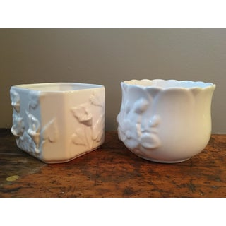 Vintage Loucarte Portugal Pottery Cachepots - Set of 2 Preview