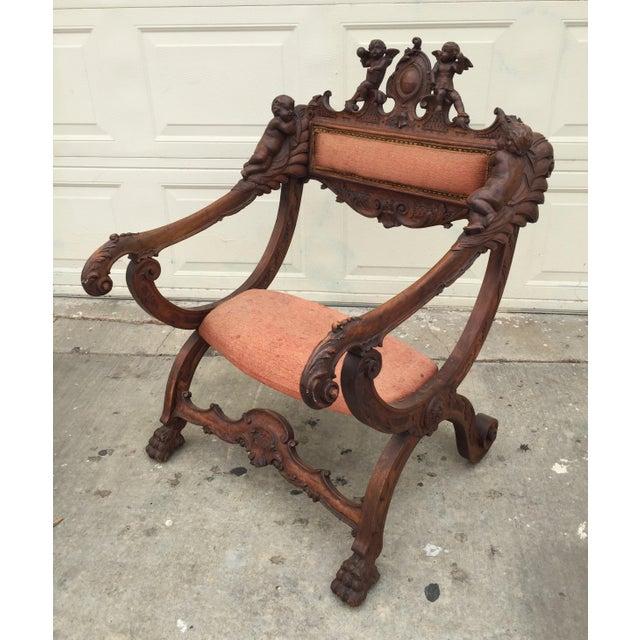 Antique Italian Savonarola Chair - Image 2 of 9